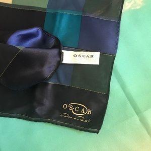 Silk Oscar de la Renta geomentric scarf